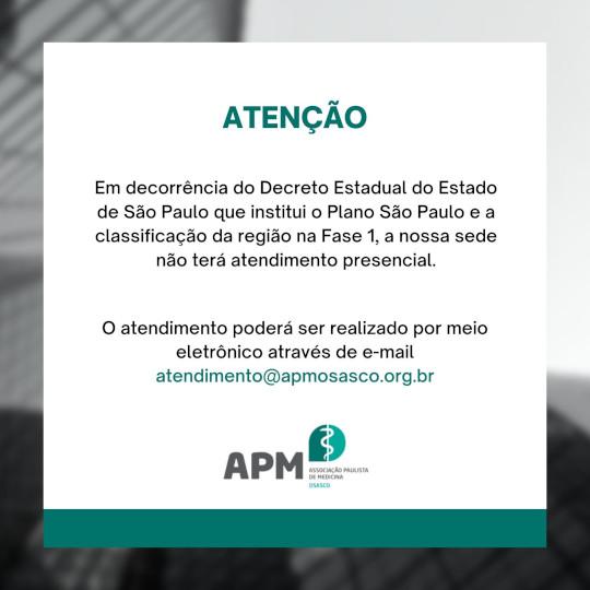 Fase 1 - Estado de São Paulo